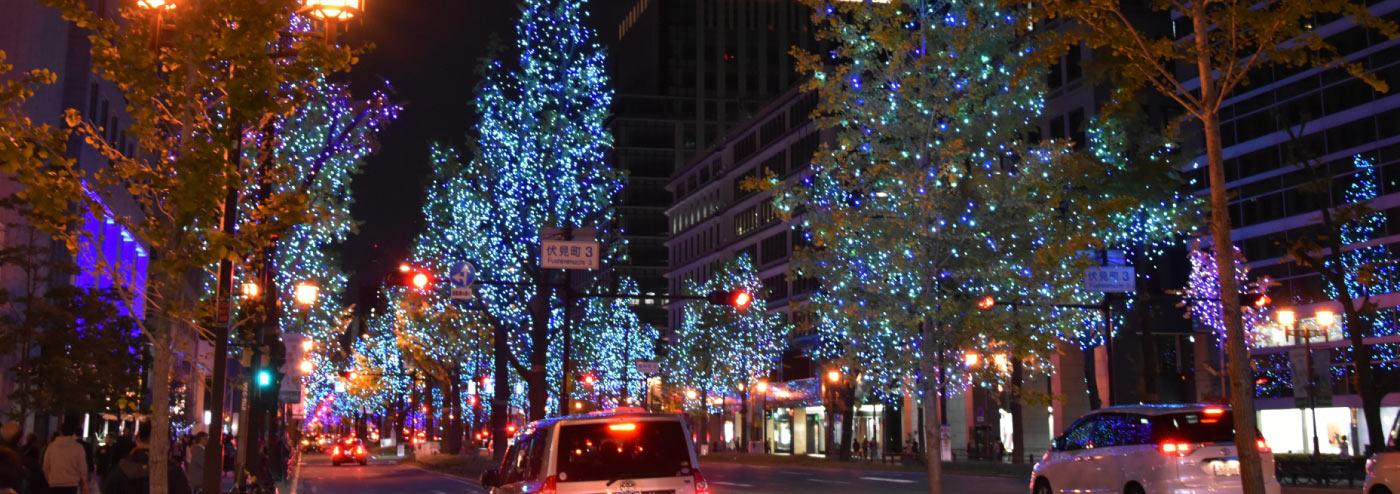 深夜の繁華街