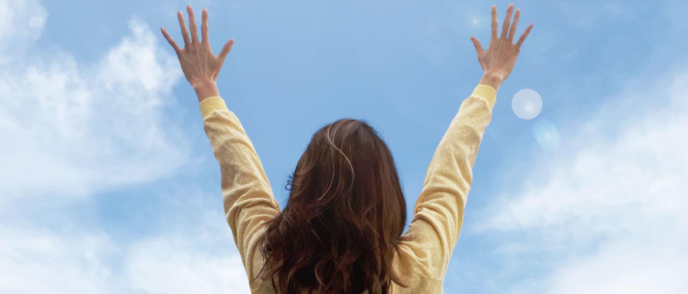 幸せを勝ち取る女性